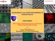 BIOMATERIALS and TISSUE ENGINEERING IN HUMAN HEALTH