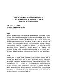 Türkiye'de Enerji Projelerinde Yürütülen Kamulaştırma İşlemleri ...