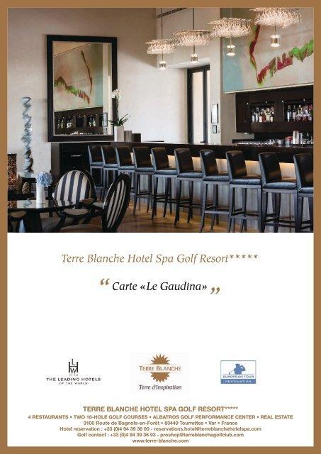 Terre Blanche Hotel Spa Golf Resort Carte Le Gaudina