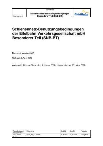 SNB-BT - Eifelbahn GmbH