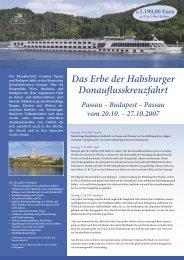 Das Erbe der Habsburger Donauflusskreuzfahrt