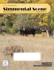 November/December 2009 - North Dakota Simmental Association