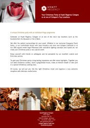 Your Christmas Party at Hyatt Regency Cologne or at one of ...