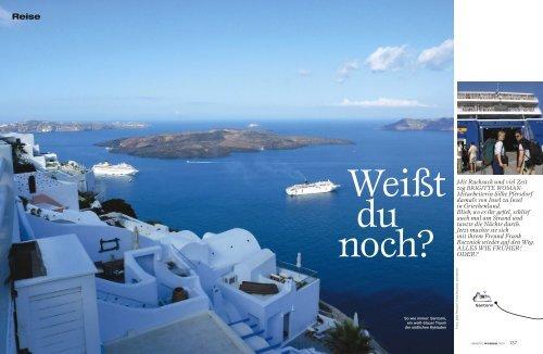 Inselhopping Griechenland (BRIGITTE WOMAN - Silke Pfersdorf l ...