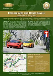 Bernese Alps and Haute-Savoie - Elite Rental