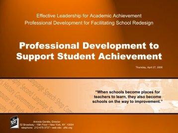 Professional Development to Support Student Achievement