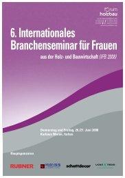6. Internationales Branchenseminar für Frauen aus der ... - Homatherm