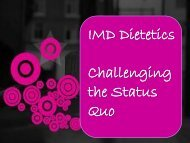 IMD Dietetics Challenging the Status Quo