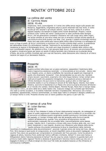 novità ottobre 2012 - Comune di Pianoro