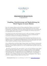 PM Neue Leitung für Empfang, Gästebetreuung ... - Hotel Neptun