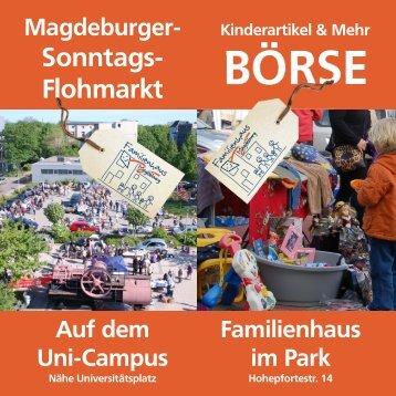 Magdeburger- Sonntags-Flohmarkt - Familienhaus Magdeburg