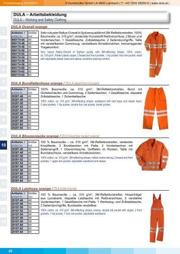 DULA – Arbeitsbekleidung 1 2 3 4 5 6 7 8 9 10 11 12 13 14 15 16