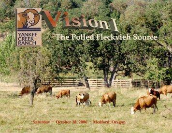 The Polled Fleckvieh Source - Yankee Creek Ranch