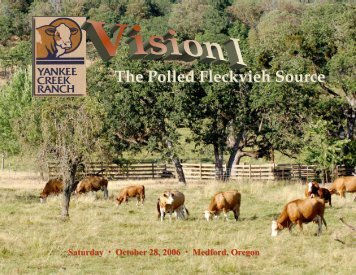 The Polled Fleckvieh Source - Yankee Creek Ranch
