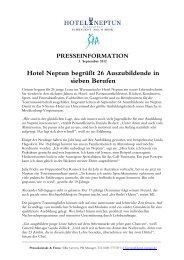 Pm AZUBIS 2012 - Hotel Neptun