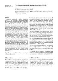 Percutaneous endoscopic lumbar discectomy (PELD)