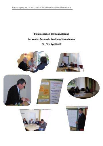 Dokumentation der Klausurtagung des Vereins ...