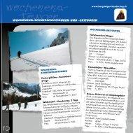 Touren wochenend- - Alpine-Center