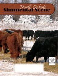NDSS - February 2008 - North Dakota Simmental Association