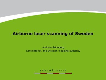 Airborne laser scanning of Sweden