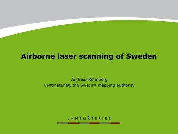 Airborne laser scanning of Sweden