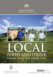 Food and Drinks - Beales Hotels