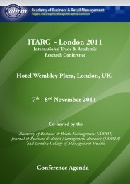 Sponsors - The Academy of Business and Retail Management (ABRM)