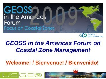 GEOSS in the Americas Forum on Coastal Zone Management