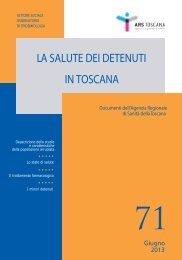 La salute dei detenuti in Toscana - Anno 2012