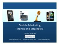 Mobile MarkeAng Trends and Strategies