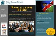 UPCOMING EVENTS - Global Compact Network Namibia