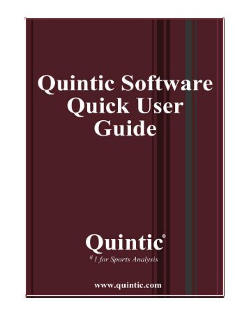 Quintic Software Quick User Guide...