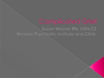 Complicated Grief - STAR-Center