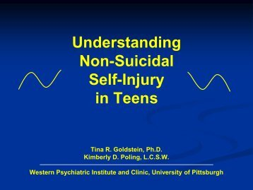 Non-Suicidal Self-Injury in Teens