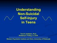 Non-Suicidal Self-Injury in Teens