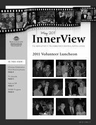 2011 Volunteer Luncheon