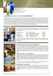Events im Lenkerhof - Lenkerhof Alpine Resort