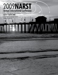 final conference program - National Association for Research in ...