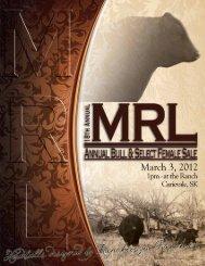 Sale :: March 3, 2012 :: 1PM - Bouchard Livestock International