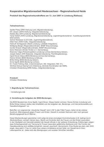 Kooperative Migrationsarbeit Niedersachsen - Regionalverbund ...