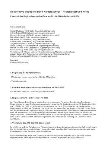 Regionalverbund Heide - Kooperative Migrationsarbeit ...