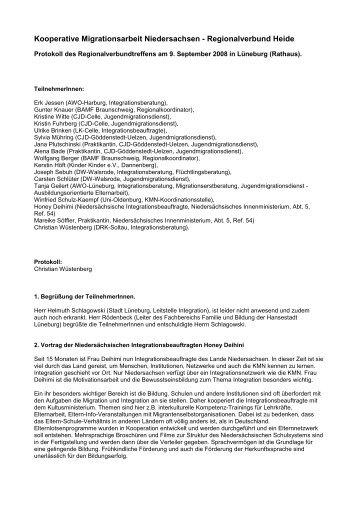 Kooperative Migrationsarbeit Niedersachsen - Regionalverbund Heide