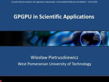 GPGPU in Scientific Applications