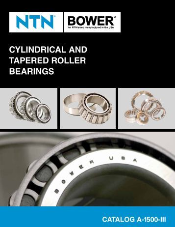 CylindriCal and Tapered roller Bearings