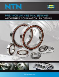PRECISION MACHINE TOOL BEARINGS A POWERFUL COMBINATION BY DESIGN