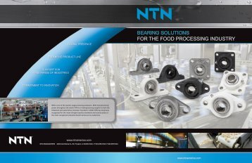 BEARING SOLUTIONS FOR THE FOOD PROCESSING INDUSTRY