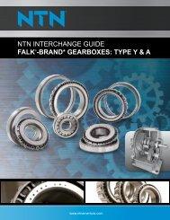 NTN INTERCHANGE GUIDE FALK -BRAND* GEARBOXES TYPE Y & A