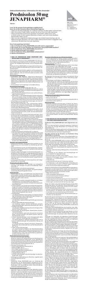 Prednisolon 50 mg JENAPHARM - mibe GmbH Arzneimittel