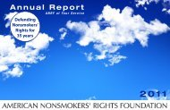 2011 Annual Report (PDF format) - American Nonsmokers' Rights ...