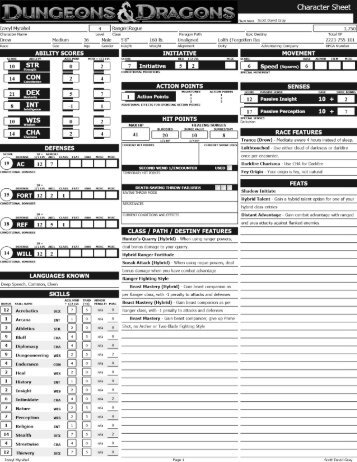 ad&d 4th edition character sheet pdf